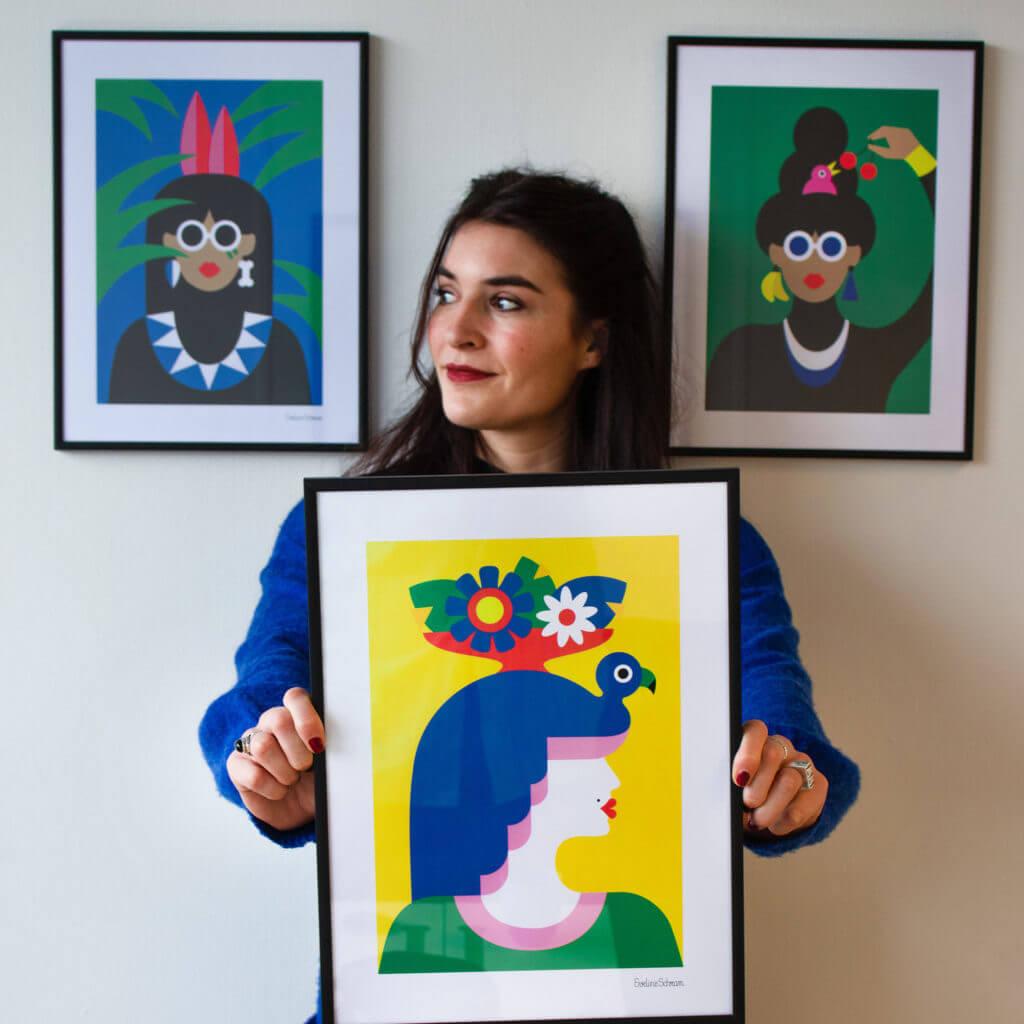 Q&A met grafisch KROON'juweel Eveline Schram: 'Anderen die mij goed genoeg kennen zouden over mij zeggen dat ik een enorme doorzetter ben.'