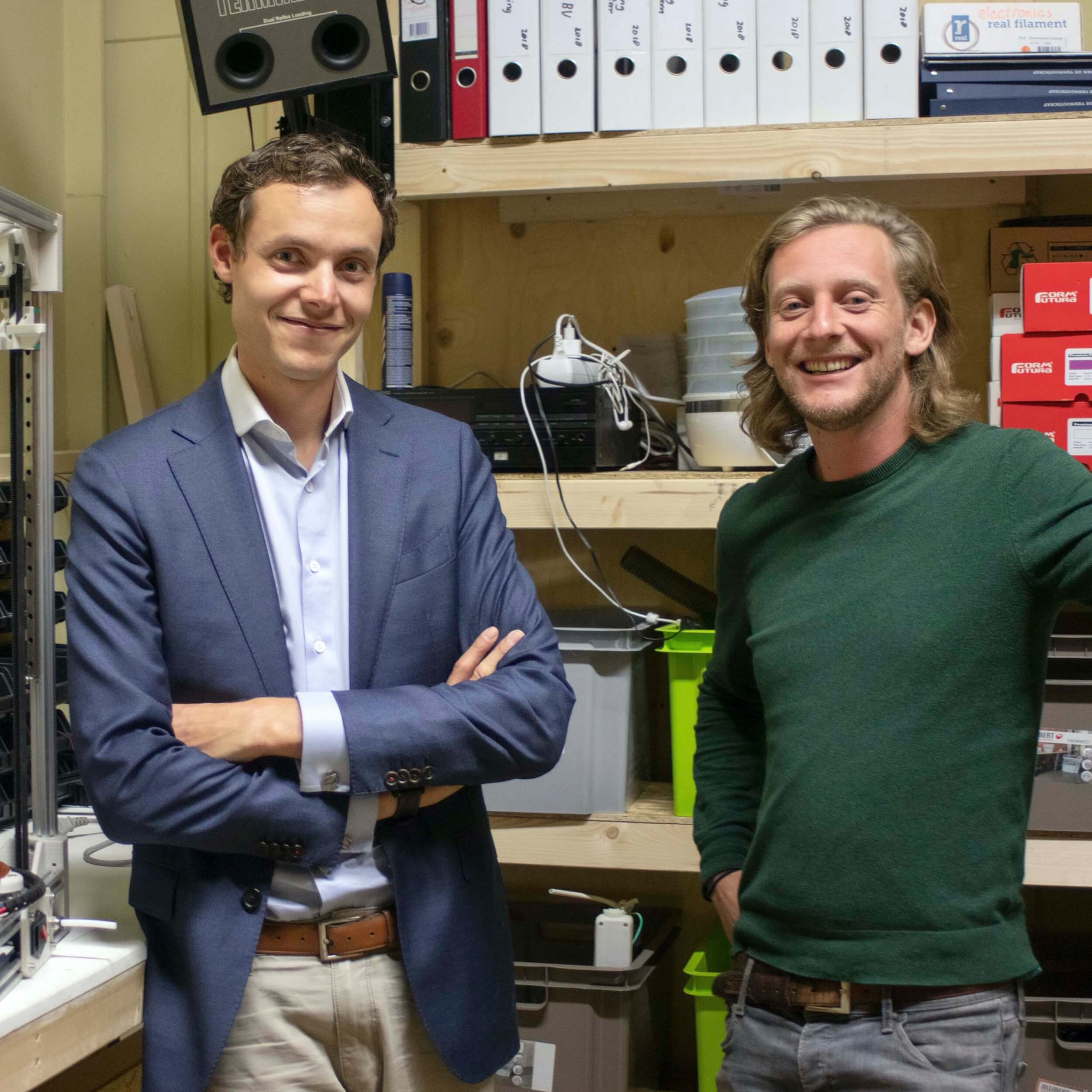 """Veda 3D Printing is opgericht door Martijn Korevaar en Jelle Hoekstra: """"Ons doel is om de snelste, meest betrouwbare en betaalbare FDM 3D printer te bouwen."""""""